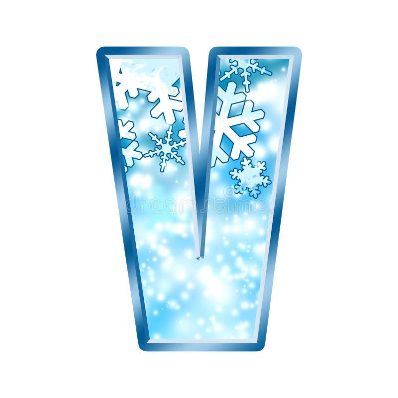 Winter Alphabet letter V stock illustration Illustration of cold