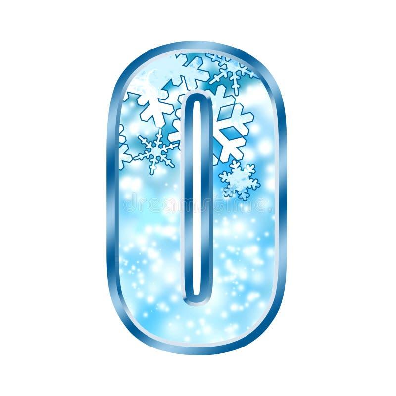 Free Winter Alphabet Number 0 Zero Royalty Free Stock Photos - 7037908