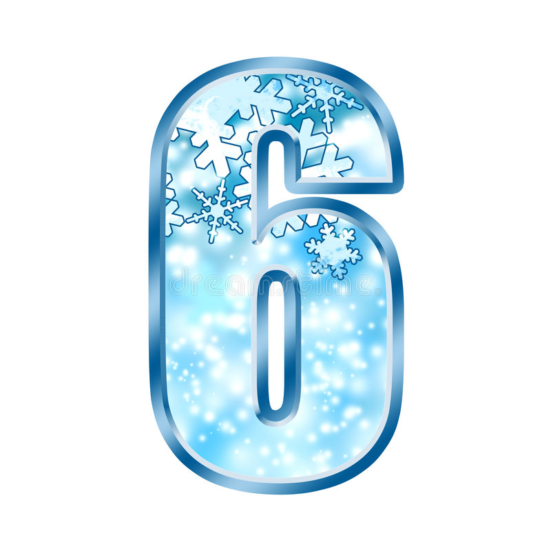 Free Winter Alphabet Number 6 Six Stock Photography - 7038042
