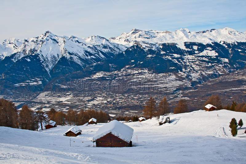 Winter Alpine landscape royalty free stock photo