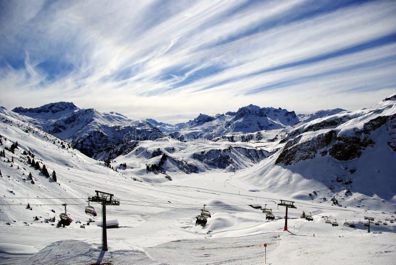 Winter Alpine Panorama royalty free stock images