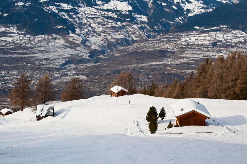 Winter in the Alps royalty free stock photography