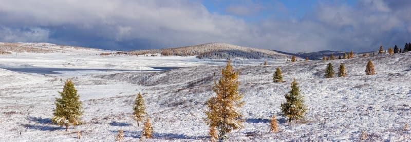 Winter Altai lizenzfreie stockbilder