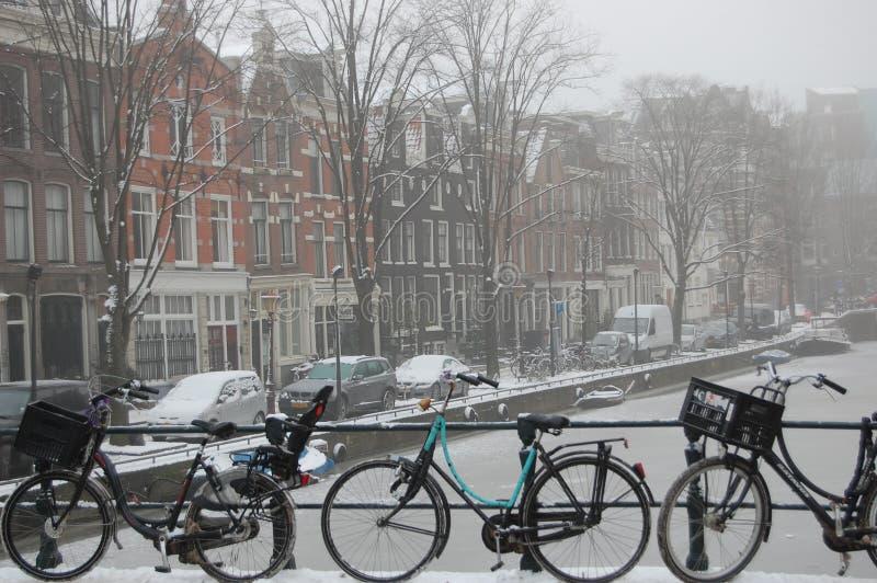 Winter in Amsterdam stock photo