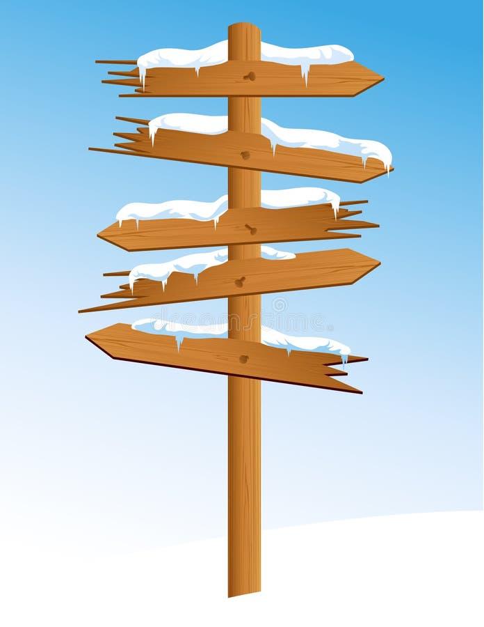 Winter_arrow lizenzfreie abbildung