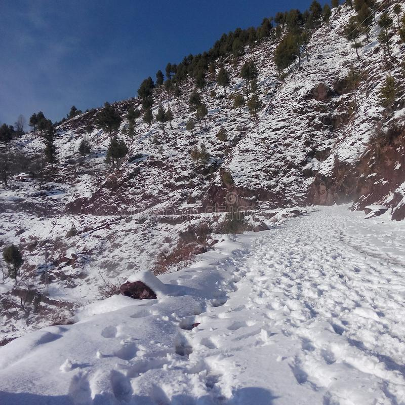 Winter in Asad Kaschmir stockfotografie