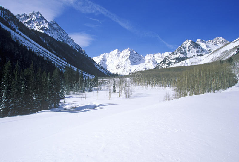 Download Winter in Aspen i stock image. Image of american, color - 26263583