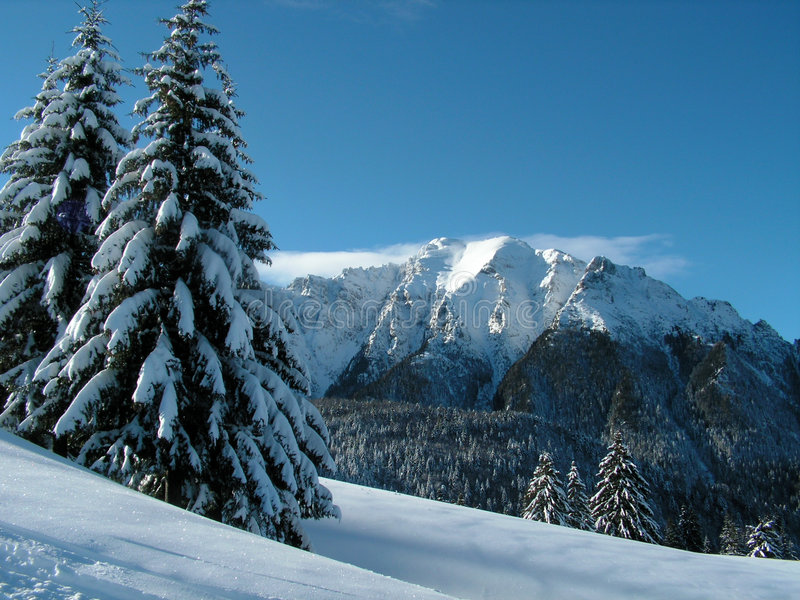 Winter auf Hochländern lizenzfreies stockfoto