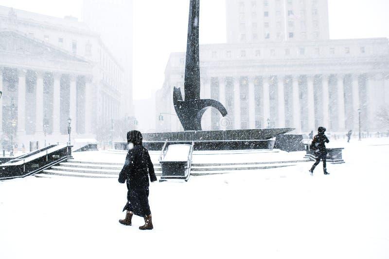 Winter auf Wall Street lizenzfreie stockbilder