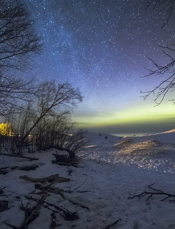 Winter-Aurora stockfoto
