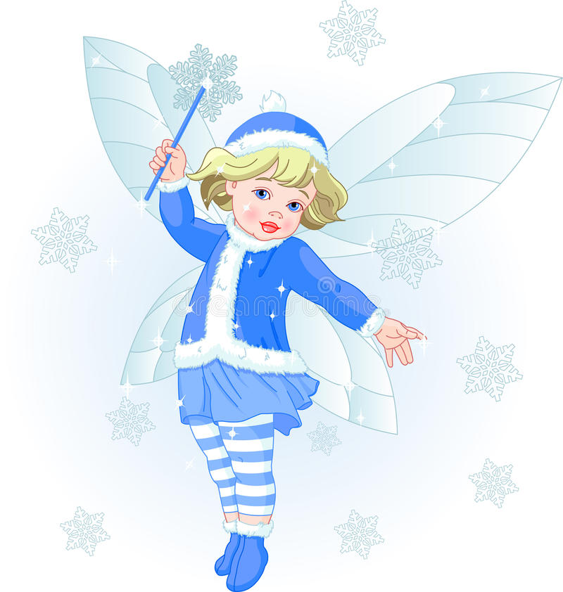 Winter baby fairy. Vector illustration of a Winter baby fairy royalty free illustration
