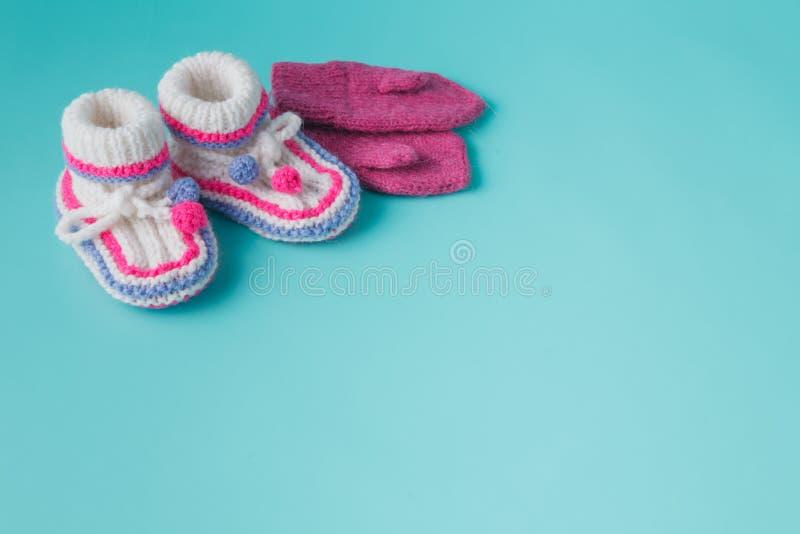 Winter baby newborn announcement stock image