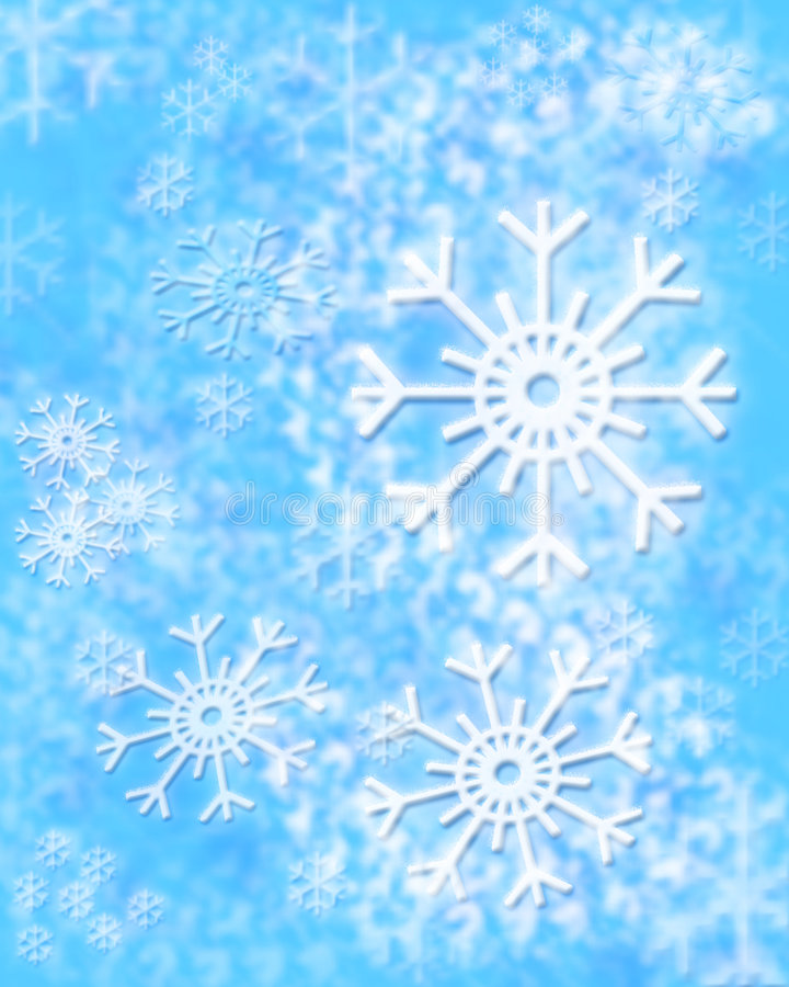 Winter background. With snowflakes, a raster illustration