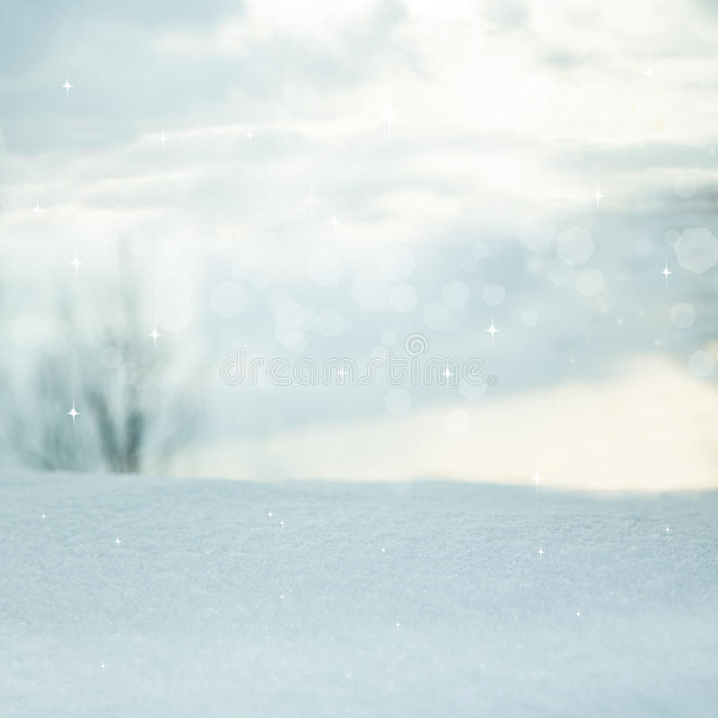 Winter background. Blurred landscape. Beautiful winter background. Blurred winter landscape with bokeh stock photos