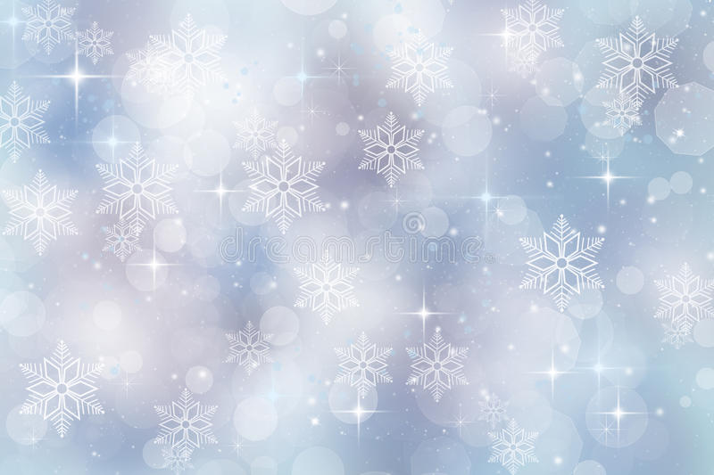 Winter Background For Christmas And Holiday Season Stock