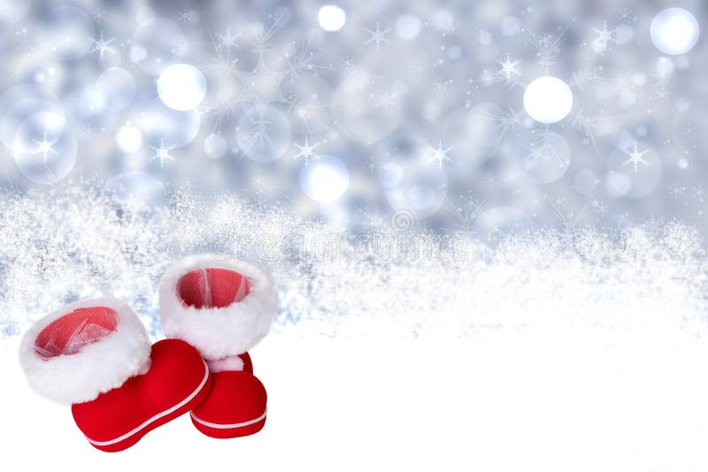 Winter background. Christmas winter background withred Cristmas royalty free stock image