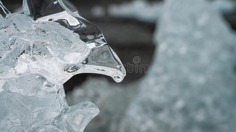 Close up of a natural ice formation. Winter background, close up of a natural ice formation stock images