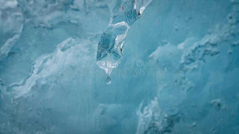Close up of a natural ice formation. Winter background, close up of a natural ice formation stock photography