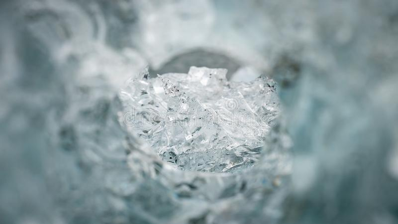 Close up of a natural ice formation. Winter background, close up of a natural ice formation stock image