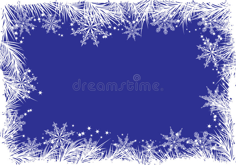Winter background with a fir tree, vector stock images