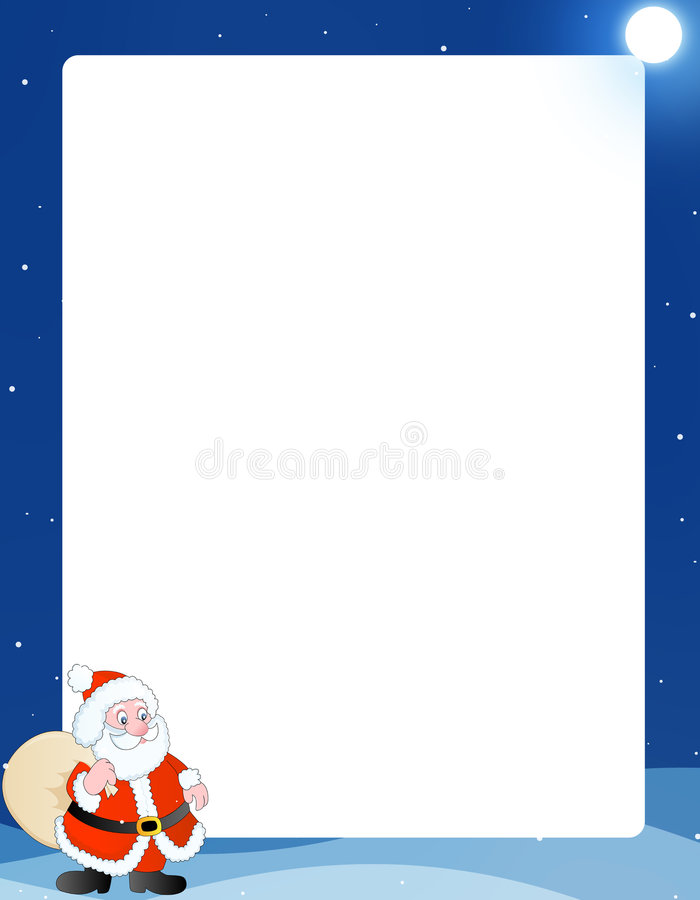 Winter background / frame royalty free illustration