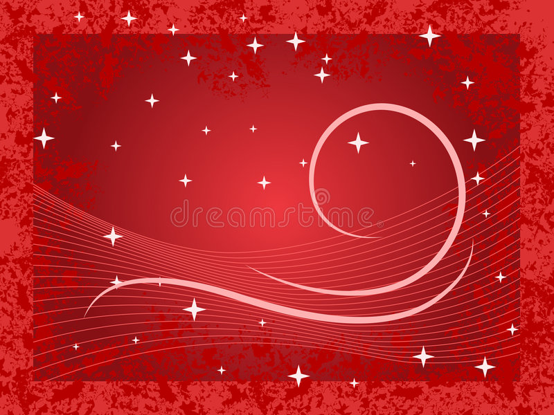 Winter Background Red stock illustration