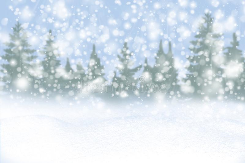 Winter background of snow and the frost with free space for your decoration. Christmas background. Winter background of snow and frost with free space for your stock photography