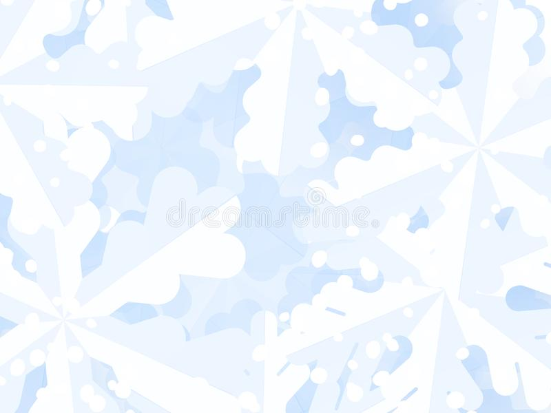 Winter background with snowflakes for Christmas and New Year greetings. vector illustration