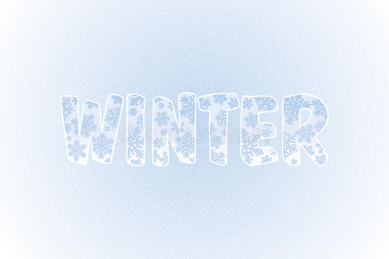 Download Winter Background With Snowflakes And Text. Vector Stock Vector - Image: 35915174