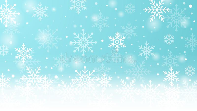 Winter background with snowflakes. Vector illustration stock illustration