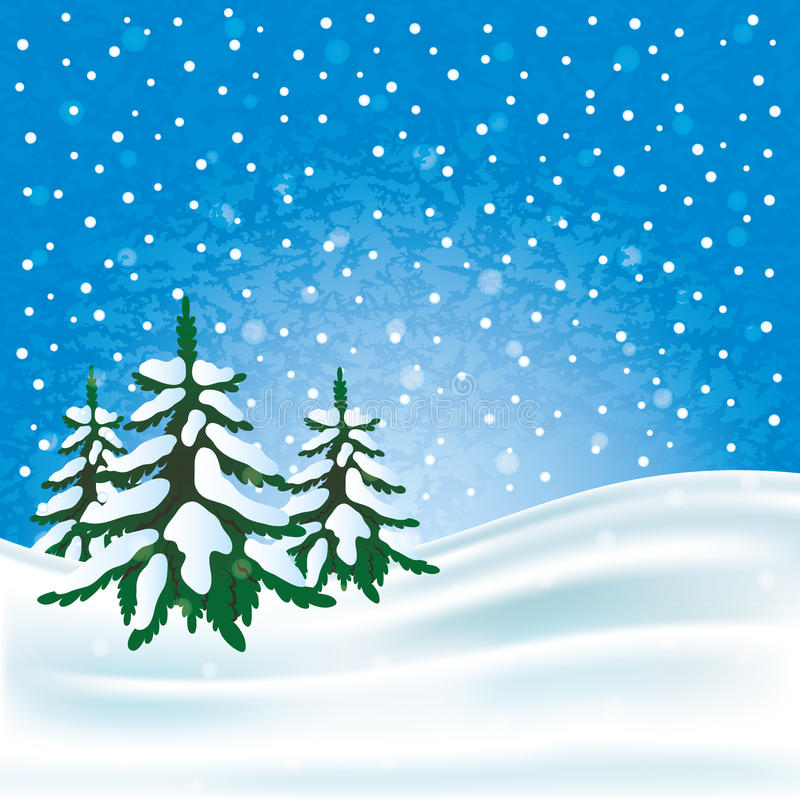 Winter background for your text. royalty free illustration