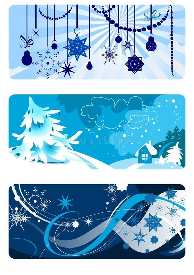 Winter backgrounds set stock illustration