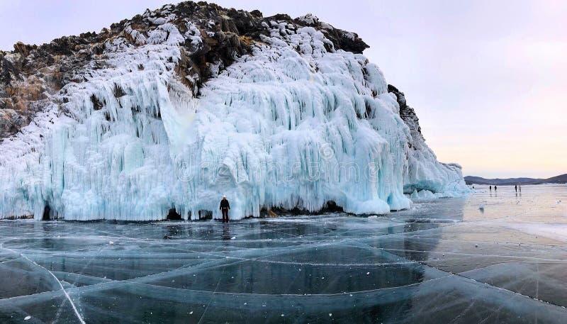 Winter. Baikal ice. Carpathian Russia Europe stock images