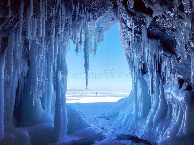 Winter. Baikal ice. Carpathian Russia Europe royalty free stock photography