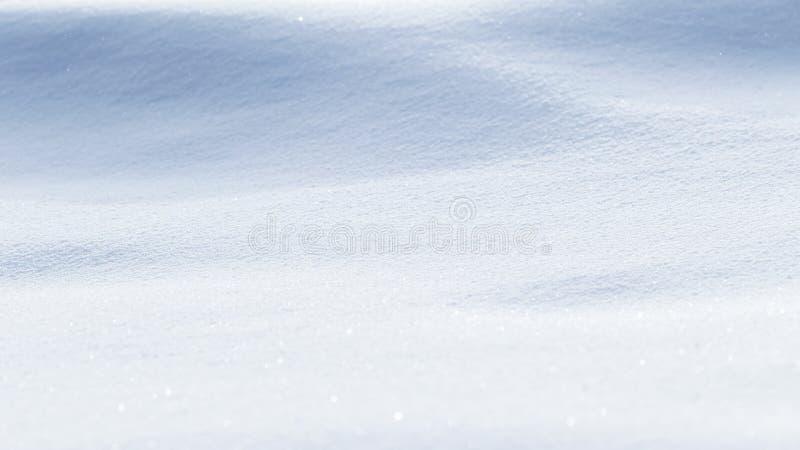 Winter-bakgrund Snövit ren textur Selektivt fokus royaltyfri fotografi
