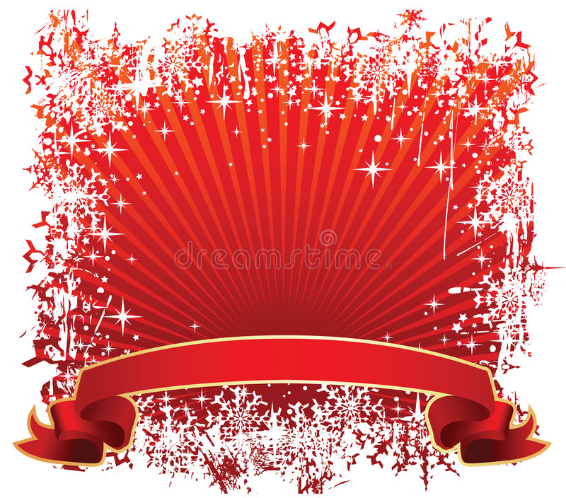 Download Winter banner red stock vector. Image of color, flakes - 7365997