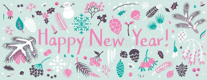 Winter banner stock illustration