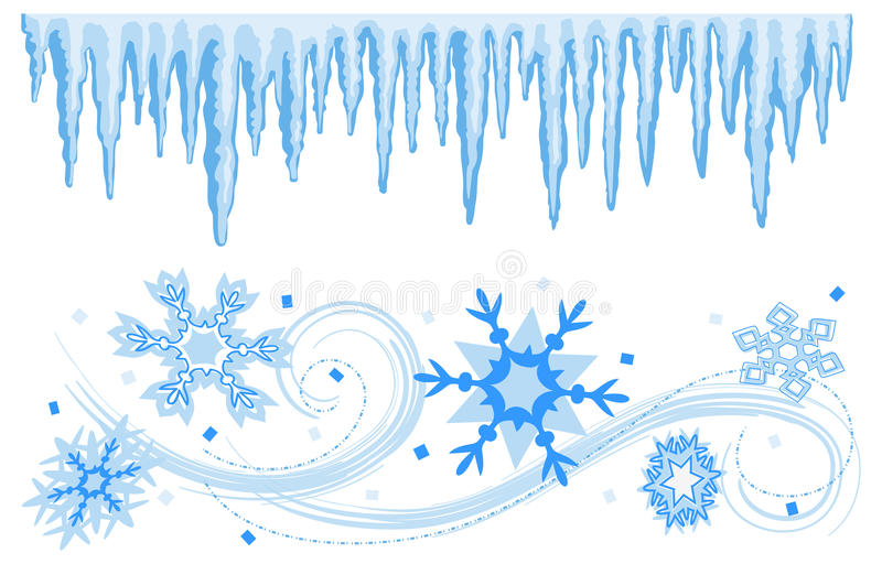 Winter Banners Borders/eps royalty free stock image