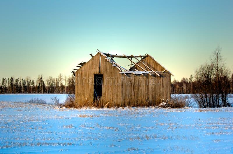 Winter barn royalty free stock photos