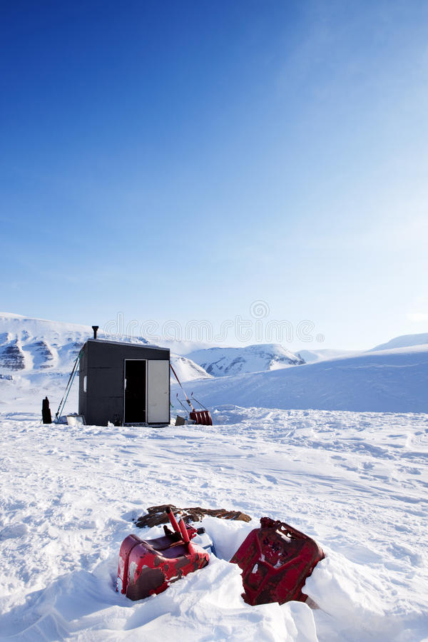 Winter Base Camp stock images