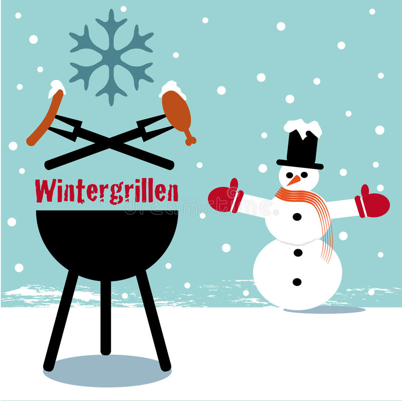 Download Winter bbq stock illustration. Image of flame, filet - 35229009