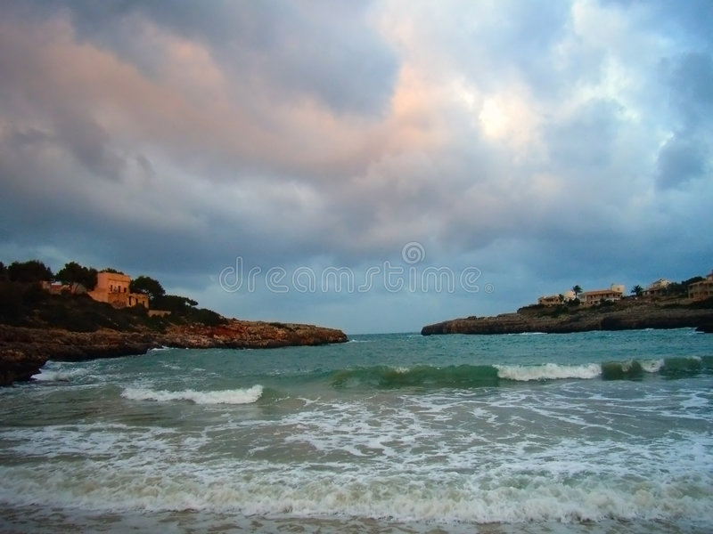Download Winter Beach stock image. Image of water, mediterranean - 1266873