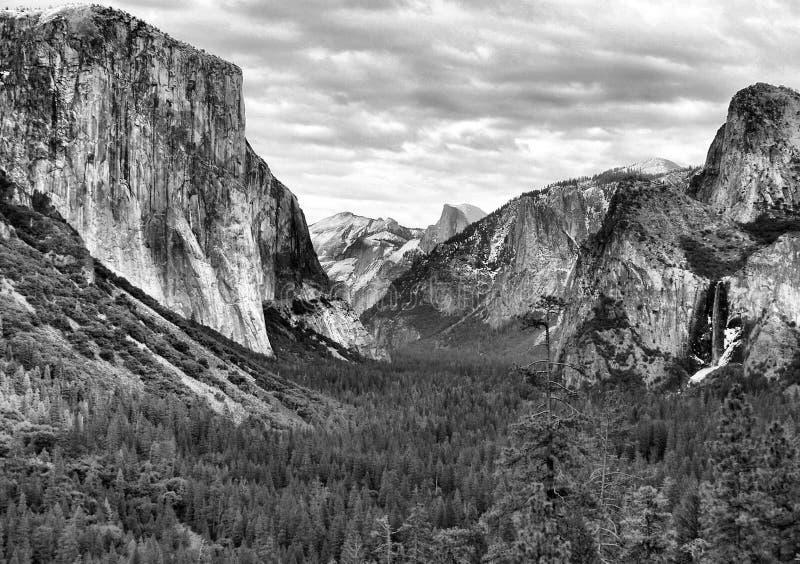 Winter bei Yosemite lizenzfreies stockfoto
