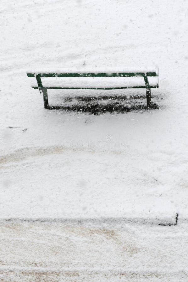 Winter bench.