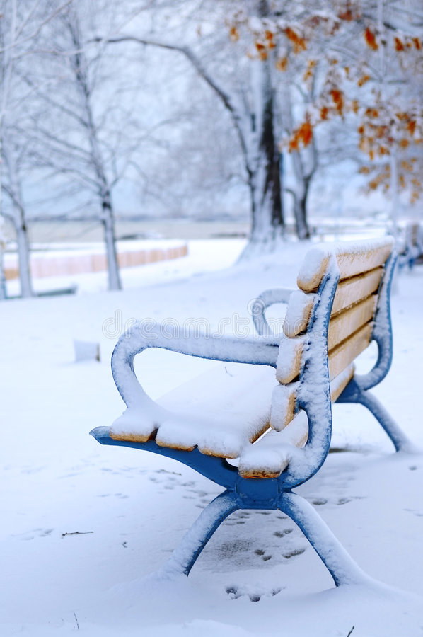 Download Winter bench stock image. Image of beauty, alone, canada - 4004775