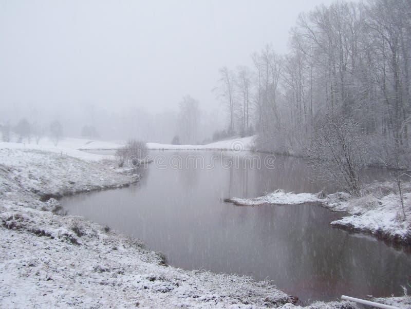 Winter beruhigen Schönheit stockbilder