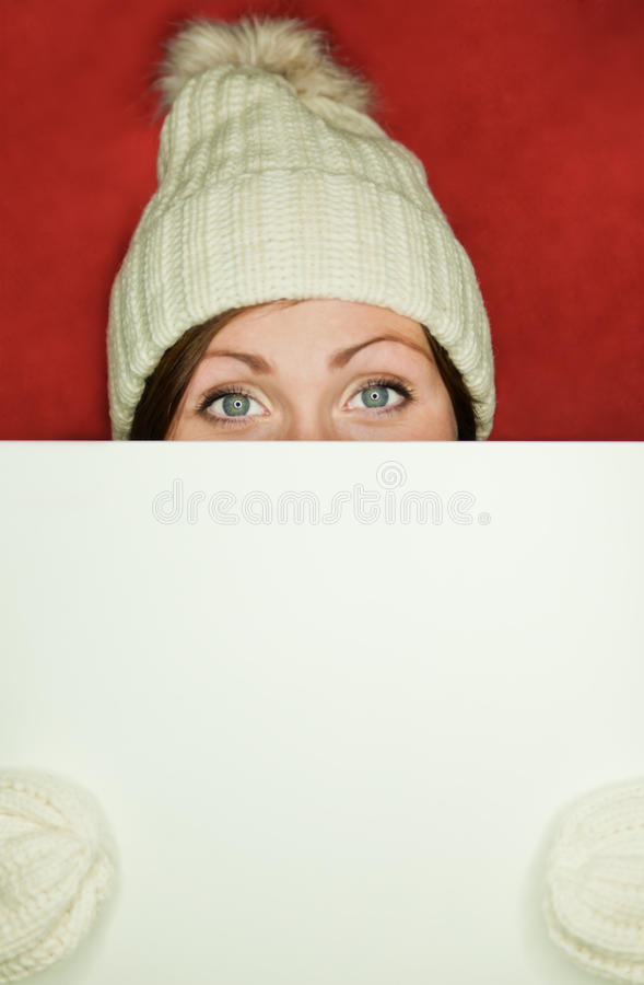 Winter Billboard Royalty Free Stock Photo