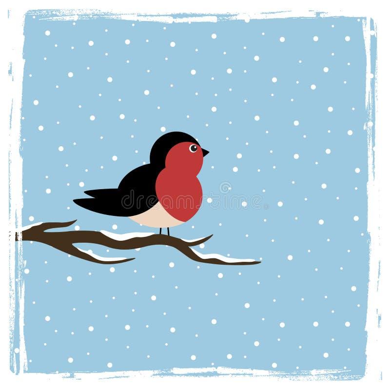 Winter bird stock illustration