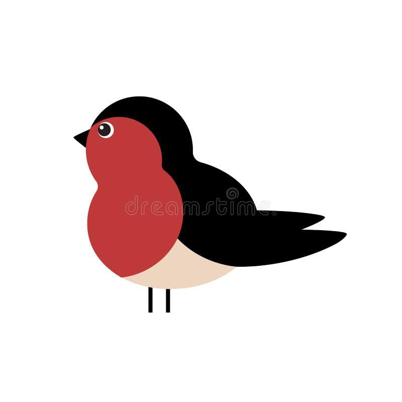 Winter bird. vector illustration