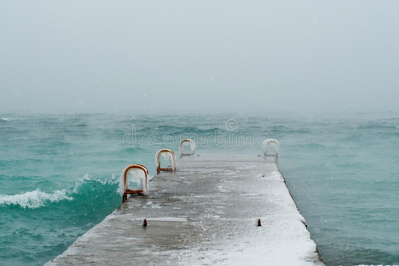 Winter on Black Sea royalty free stock images